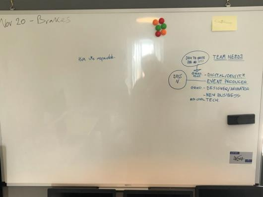An Amazon Wipe Board, 1500mm x 1000mm (located at The Old Exchange,