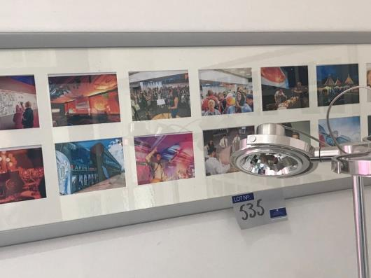 3-16 Photo Picture Frames, 1260mm x 355mm with 2 Photo Frames, 12in x