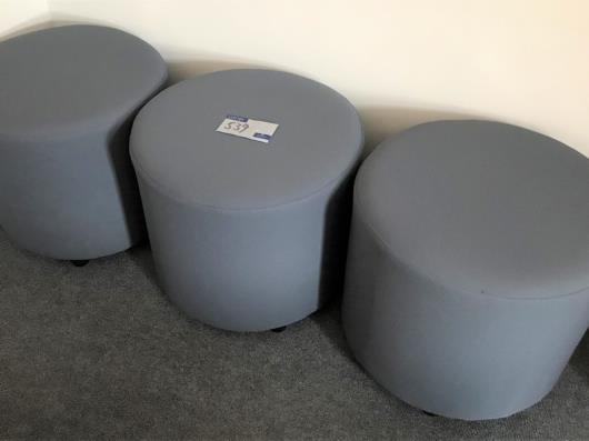 3 Grey Fabric Seats, 540mm dia x 475mm h (located at The Old