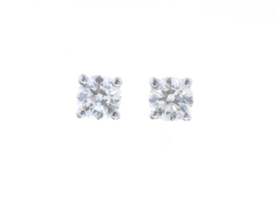 18ct White Gold Claw Set Diamond Earrings 0.40 CaratsItem Specification..Carat:0.4.Colour:D. Clarity:SI. Cut:Very GoodM…