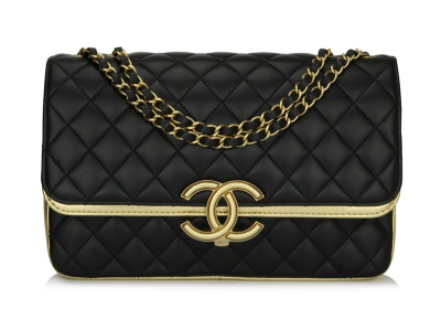 Chanel CC Chic Flap Black Gold Lambskin Brushed Gold Hardware 2019