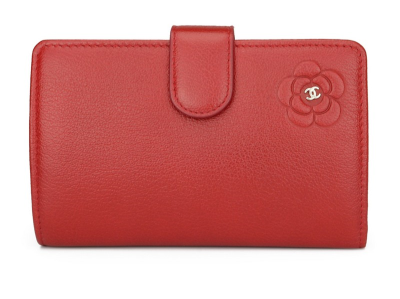 Chanel L-Zip Pocket Wallet Red Calfskin Silver Hardware 2011