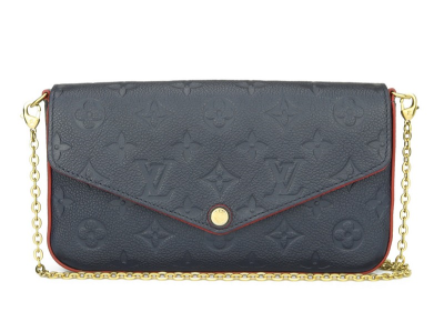 Louis Vuitton FŽlicie Pochette Marine Rouge Monogram Empreinte Leather Gold Hardware 2018