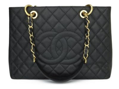 Chanel Grand Shopping Tote [GST] Black Caviar Gold Hardware 2012